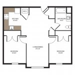 The McHenry 2 Bedroom | 1 Bath 814 sq. ft. $ Call For Pricing