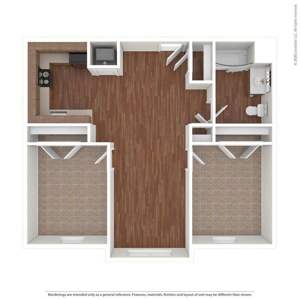 The McHenry 2 Bedroom | 1 Bath 814 sq. ft.$ Call For Pricing