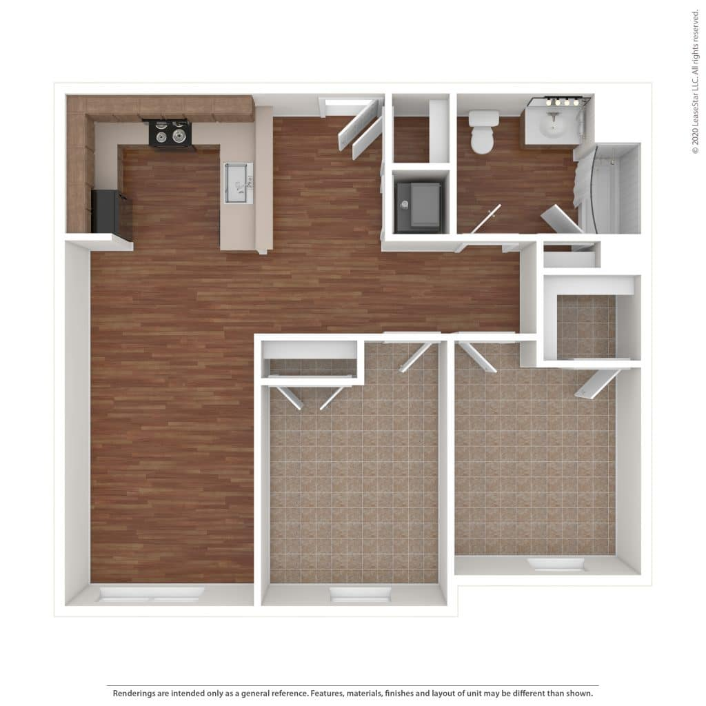 The Meade 2 Bedroom | 1 Bath 828 sq. ft.$ Call For Pricing